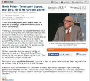 Pahor Bossman rasizem