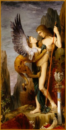 Oedipus and the sphinx - Gustave Moreau