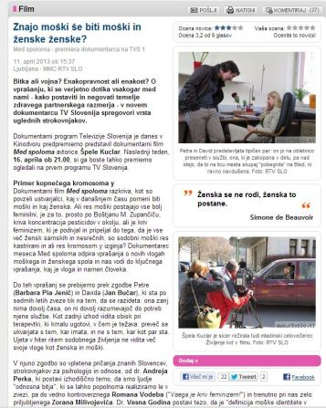 Med spoloma šovinizem RTV