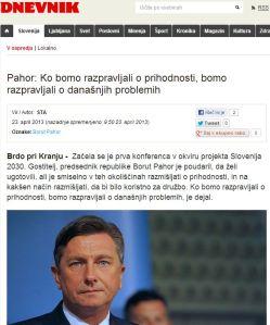 Pahor prihodnost mišljenje