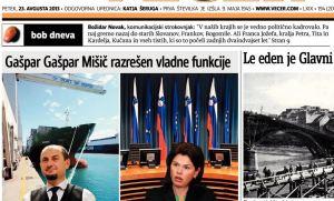 Gašpar Mišič Novak naslovnica Večera