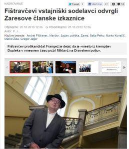 Fištravec Zares hobotnice Slovenske novice
