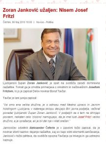Janković Fritzl žalitev
