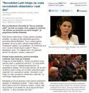 Alenka Bratušek novodobni Lutri protesti