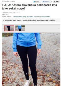 Bratušek seksi noge Slovenske novice