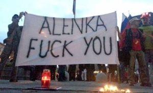 Protesti Alenka fuck you