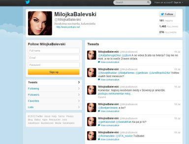 Milojka Balevski profil tviter