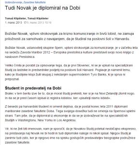 Novak diploma Doba