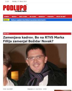 Novak direktor RTV