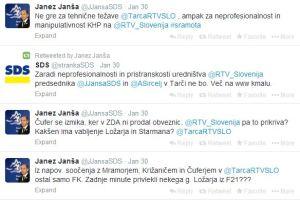 Janša komentira Tarča