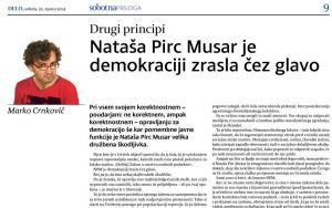 Crnkovič kolumna Nataša Pirc Musar