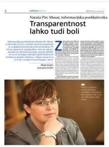 Nataša Pirc Musar Delo intervju