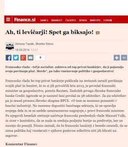 Finance levičarji biksajo