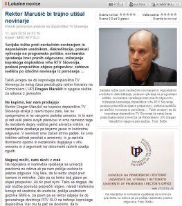 Univerza rektor UP novinarji Carl