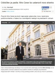 Cerar Dnevnik stranka odločitev je padla