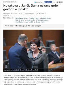 Ljudmila Novak Janša dama ne govori grdo