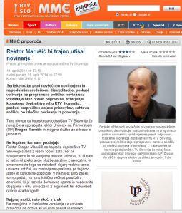 Marušič utiša novinarje