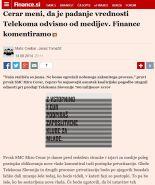 Finance mediji krivda Telekom