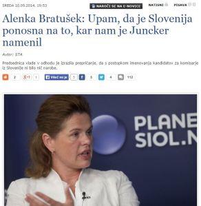 Juncker Bratušek ponos SIOL