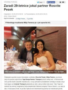 Manipulacija v naslovu Mož Rosvite pesek jokal Slovenske novice
