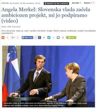 Cerar Merkel SIOL privatizacija