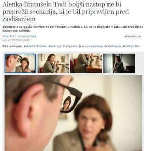 Delo Bratušek intervju Potič komisarka