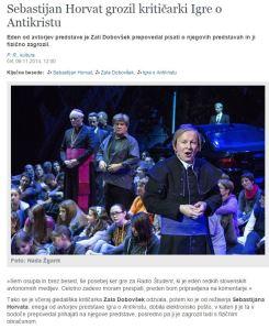 Dobovšek Horvat grožnja Antikrist kritika Delo