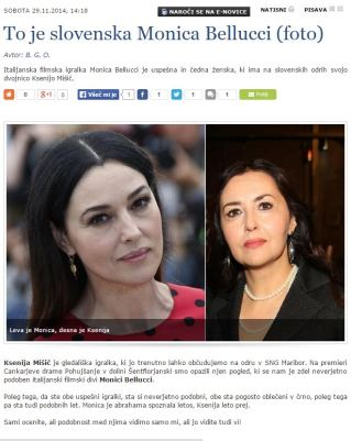 Ksenija Mišič Monica Belluci