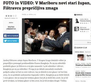 Večer Fištravec volitve zmagal