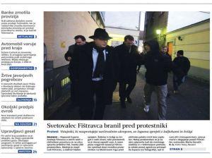 Delo naslovnica Fištravec protest