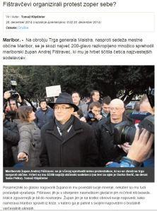 Protesti Fištravec Dnevnik Proteste organizirali kar sami