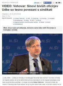 Vehovar Slovenske novice Udba