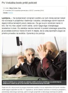 Vodušek policisti Dnevnik