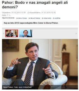 Angeli demoni Pahor Slovenske novice