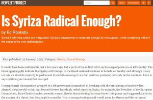 New Left radical