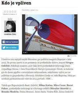 Vanessa Čokl Večer Reporter vplivni