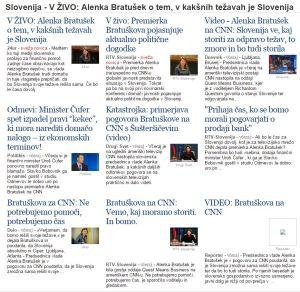 Alenka Bratušek CNN mediji