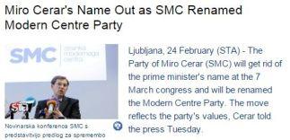 Cerar STA modern party