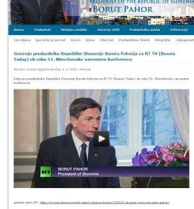 Pahor RT uradna stran kabineta