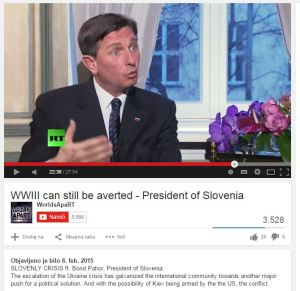 Pahor Russia Today youtube
