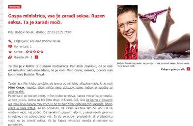 Božidar Novak Milojka Balevski noseča ministrica seks