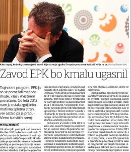 EPK ugasnil Večer