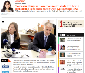 Independent Slovenski novinarji kazenski pregon
