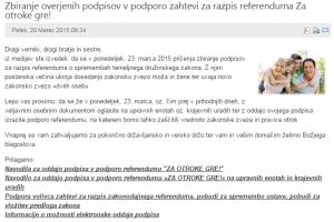RKC referendum oznanilo škofov