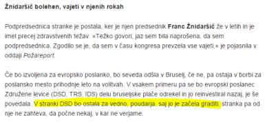 Violeta Tomič  SN DSD