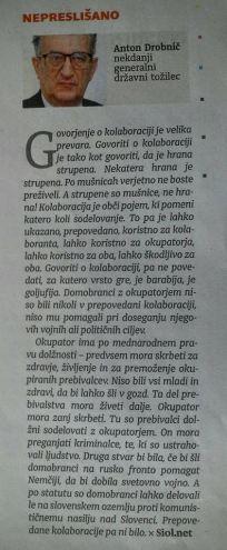 Anton Drobnič intervju Dnevnik kolaboracija