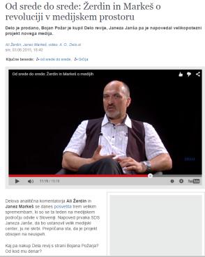 Žerdin Markeš o medijskem dogajanju