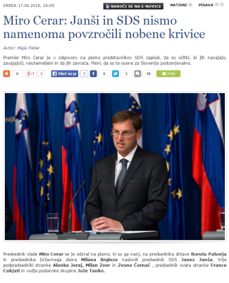 Cerar krivice Janša SIOL