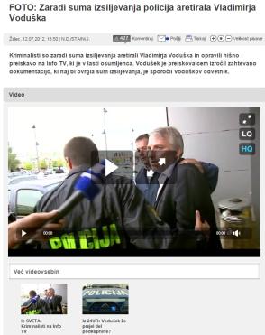 Vodušek aretacija 24ur
