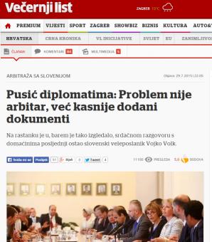 arbiter afera Pusić dokumenti Večernji